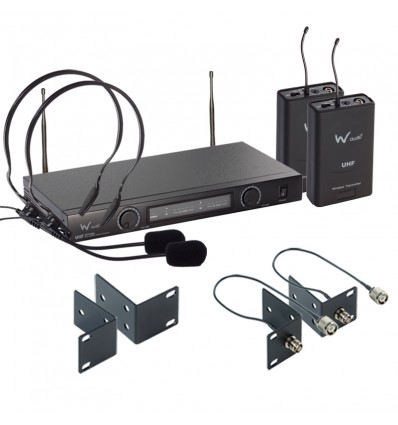 TPT-202 Twin UHF Headset Mic System (863.13/864.05)
