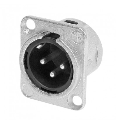 XLR 3-Pin Male Chassis Connector NC3MDL1