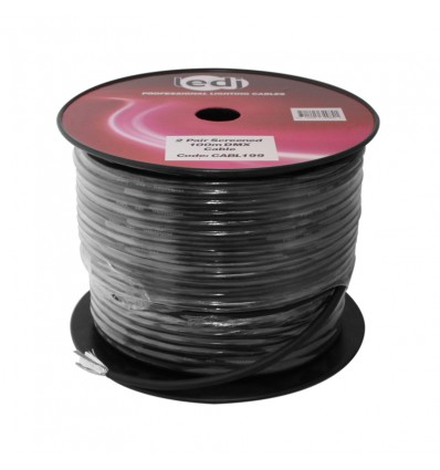 100m 2 Pair Screened DMX Cable Drum