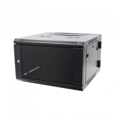 6U Double Section Wall Mount 19″ Rack Enclosure (DW-6606BK)