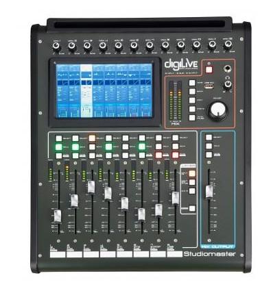 Digilive16 - 16 Input, 16 Bus, 8 Output hybrid digital console